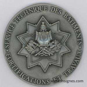 Génie Fortifications et Travaux Médaille de table 70 mm