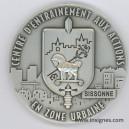 Centre d'Entrainement aux Actions Zone Urbaine CENZUB Médaille de table 70 mm