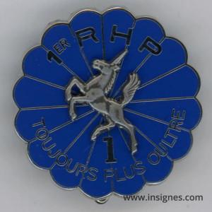 1° Régiment de Hussards Parachutistes 1° Escadron (licorne en relief)