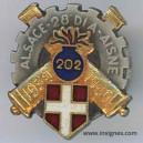 202° Régiment d'Artillerie Réduction